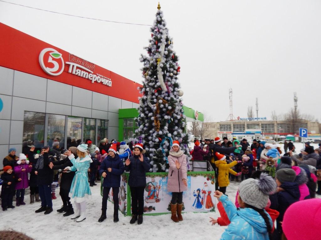 Открытие новогодней Елки прошло в микрорайоне Молодежном
