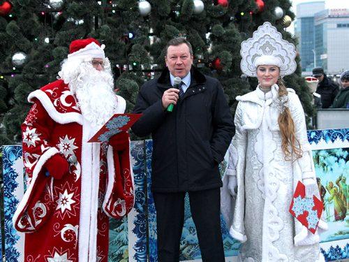 В Новочеркасске состоялось открытие главной городской елки