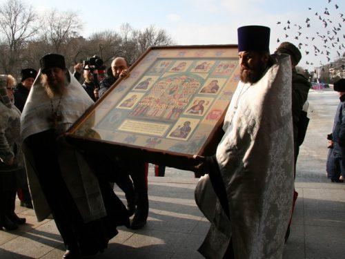 В канун столетия геноцида казачества в Новочеркасском соборе появилась икона «Казачья Голгофа»