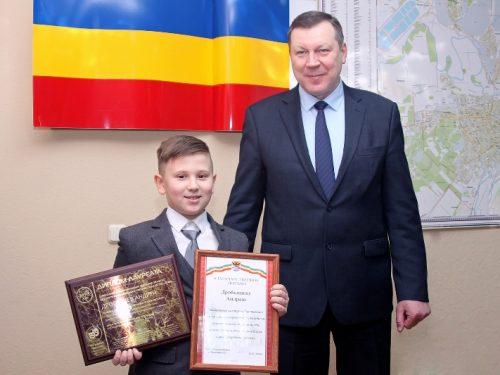 Юный обладатель Международной премии «ARTIS-2018» из Новочеркасска получил благодарность главы администрации