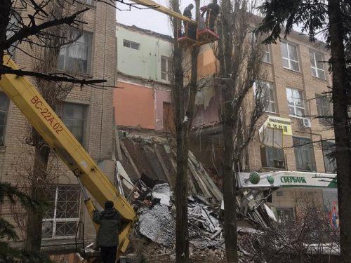 При обрушении здания в Новочеркасске никто не пострадал