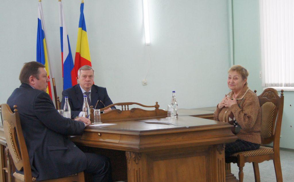 Губернатор Ростовской области Василий Голубев провёл в Новочеркасске личный приём граждан
