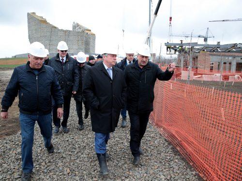 Губернатор РО посетил стройплощадку  музейного комплекса «Самбекские высоты»