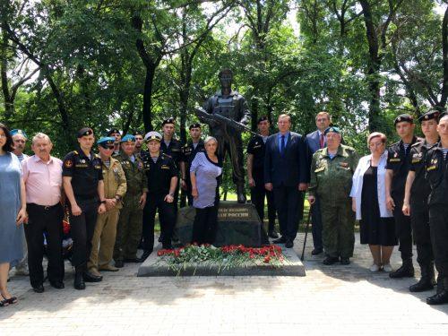В Новочеркасске почтили память бойца погибшего в Сирии в 2015 году.