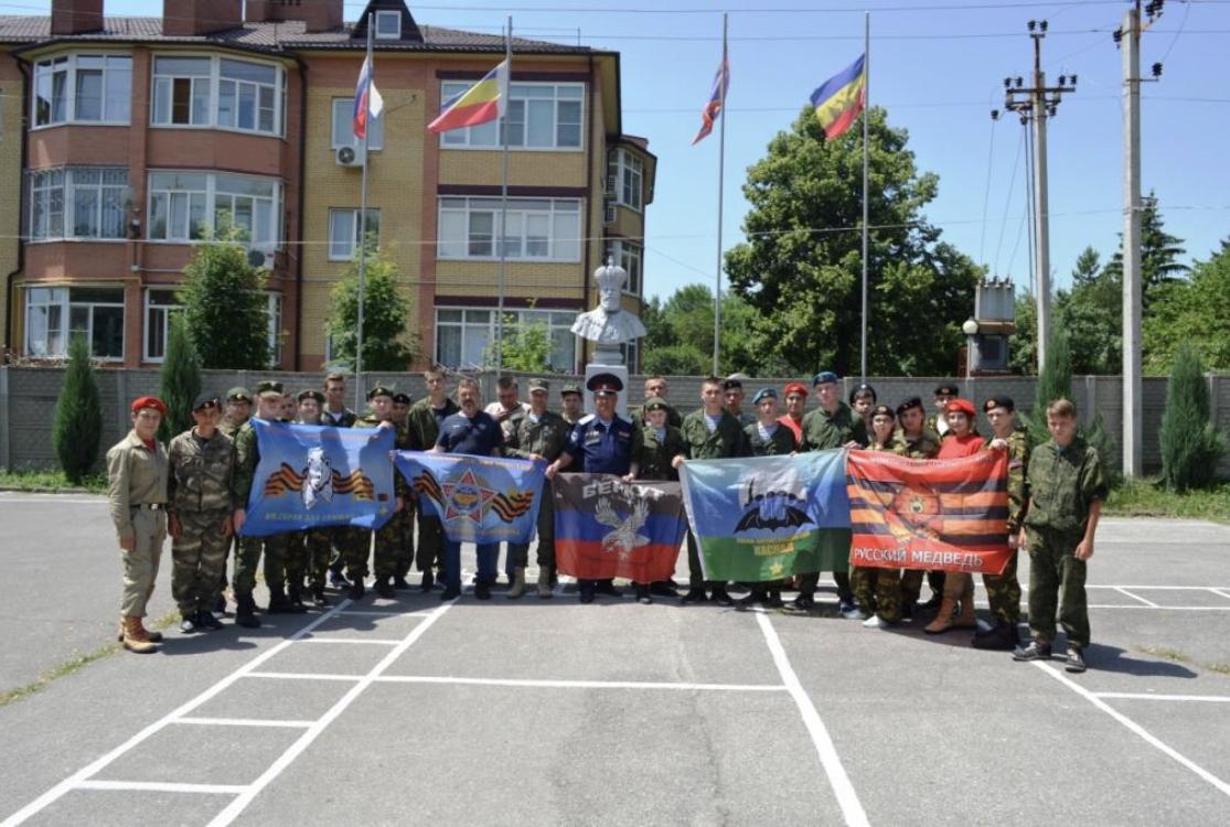 Донецкие юнармейцы побывали в гостях у кадетского корпуса