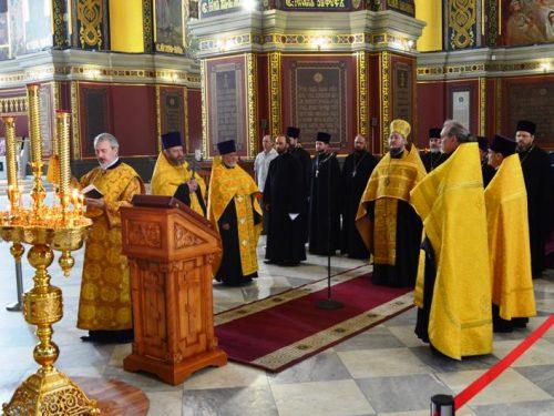 10-летие штатного войскового (флотского) духовенства отметили в Патриаршем Вознесенском войсковом всеказачьем соборе