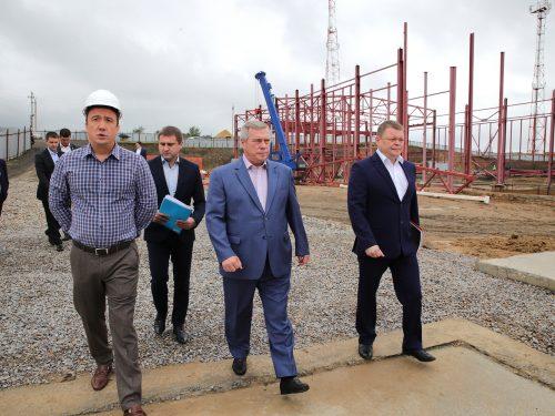 Ведется масштабное строительство объектов инфраструктуры