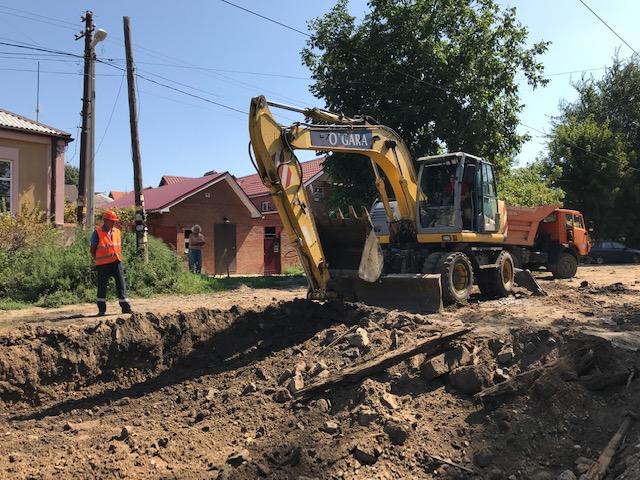 В Новочеркасске начат демонтаж трамвайных путей по маршруту № 2