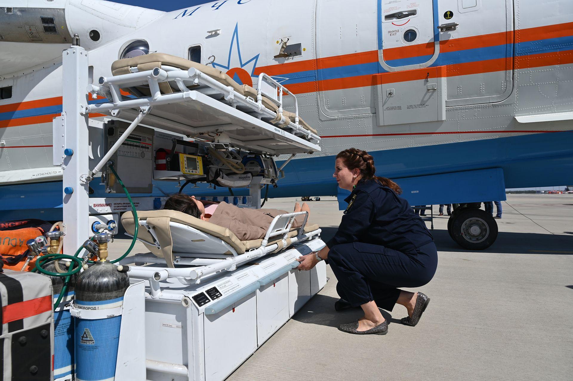 В аэропорту Платов отработали авиационную эвакуацию пострадавших