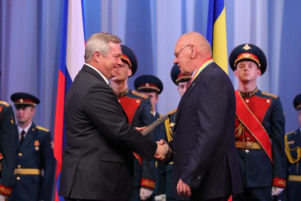 Сотрудник ЮФУ стал почётным гражданином Ростовской области