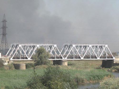 В Новочеркасске произошел масштабный ландшафтный пожар
