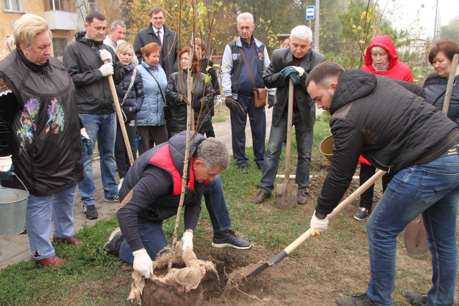 В Новочеркасске состоялся день древонасаждения