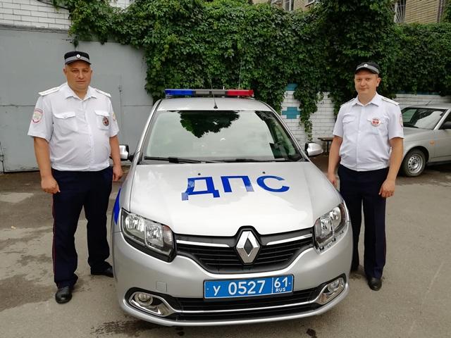 Сотрудники Новочеркасского ГИБДД помогли беременной женщине вовремя добраться до роддома