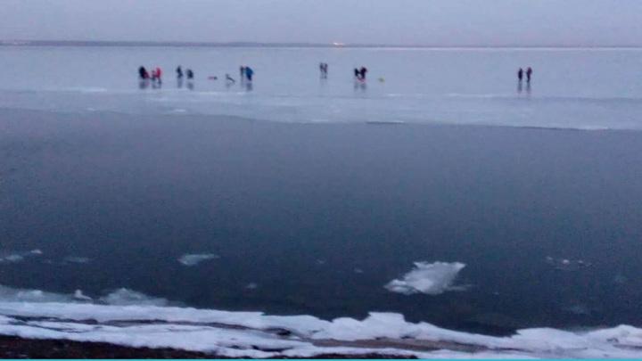 В Таганроге со льдины спасли свыше 20 человек