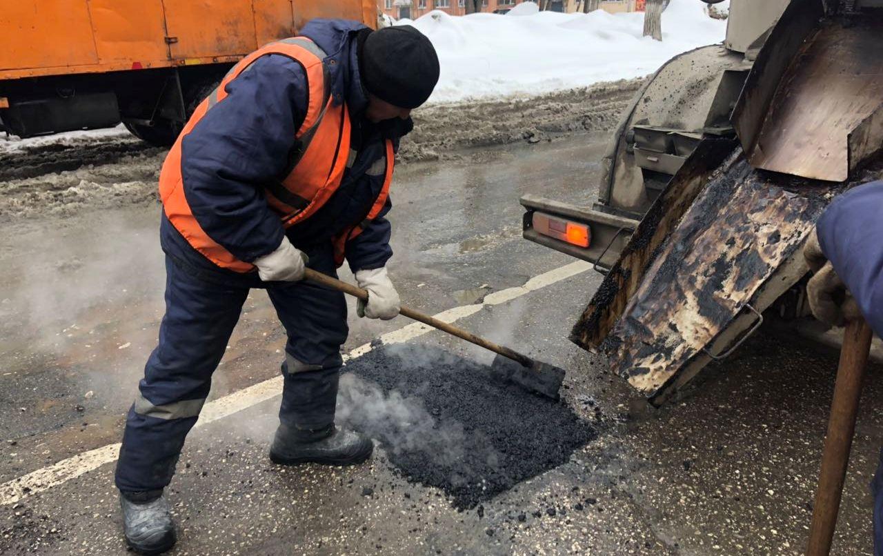 На улице Михайловской до 12 марта в Новочеркасске проведут ремонт ям